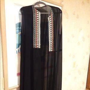 🎉🎉🎉Never worn Egyptian Blk sheer dress vest